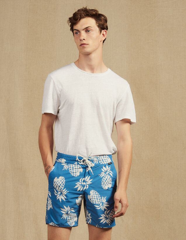 Printed Swim Shorts : Swimwear color Black