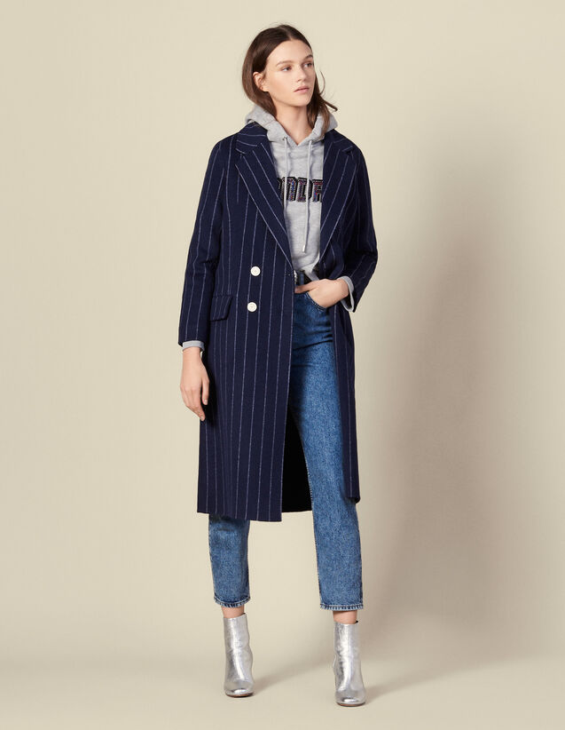 Manteau Long En Double Face : FBlackFriday-FR-FSelection-Blousons&Manteaux couleur Navy