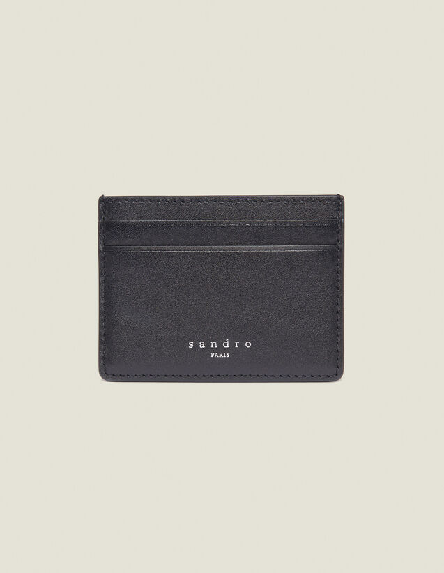 Smooth Leather Card Holder : Card Holders & Wallets color Black