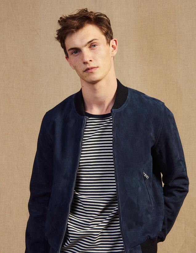 Suede Jacket : Blazers & Jackets color Navy Blue