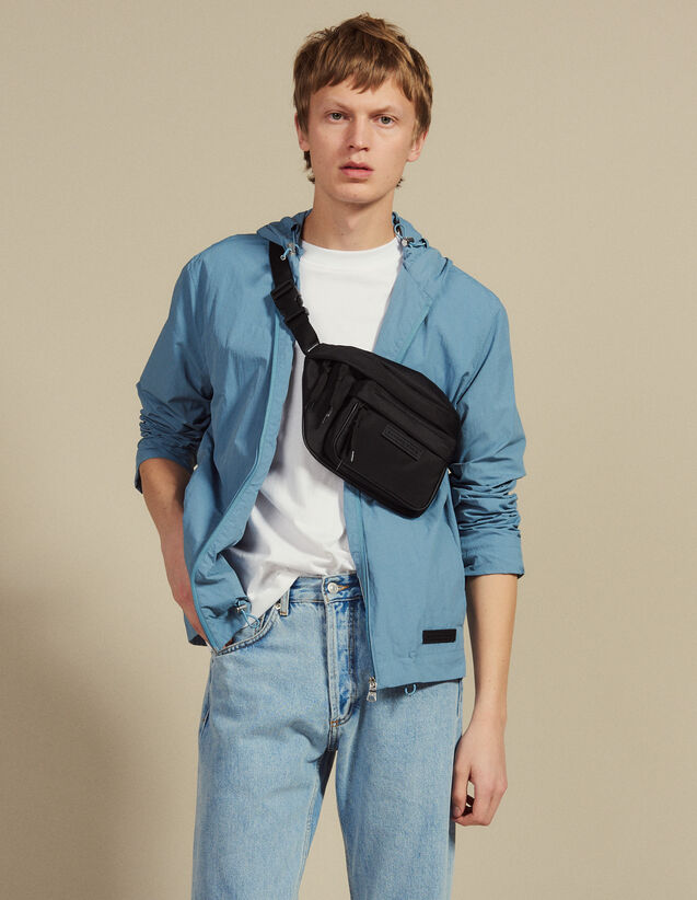 Technical Jacket With Hood : Blazers & Jackets color Bluish Grey