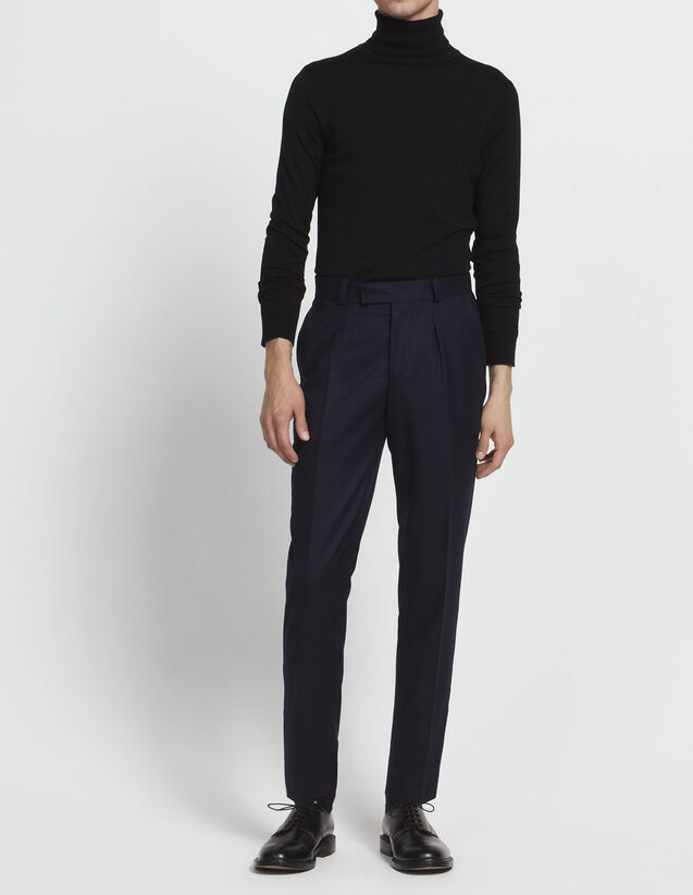 Carrot-cut flannel trousers : All Selection color Grey