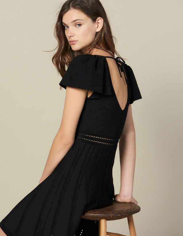 Short knit dress : FBlackFriday-FR-FSelection-30 color Black