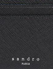 Leather card holder : Card Holders & Wallets color Black