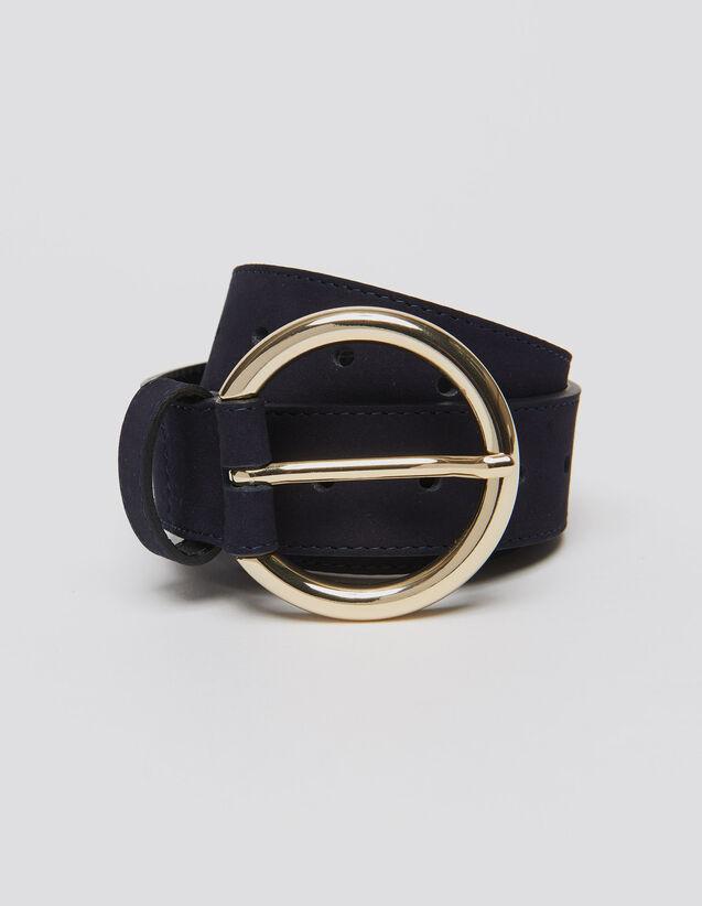 Leather Belt : Belts color Dark Navy