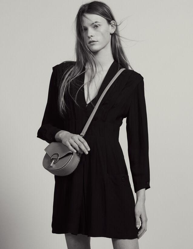 Short Flowing Dress With Pleats : LastChance-FR-FSelection color Black