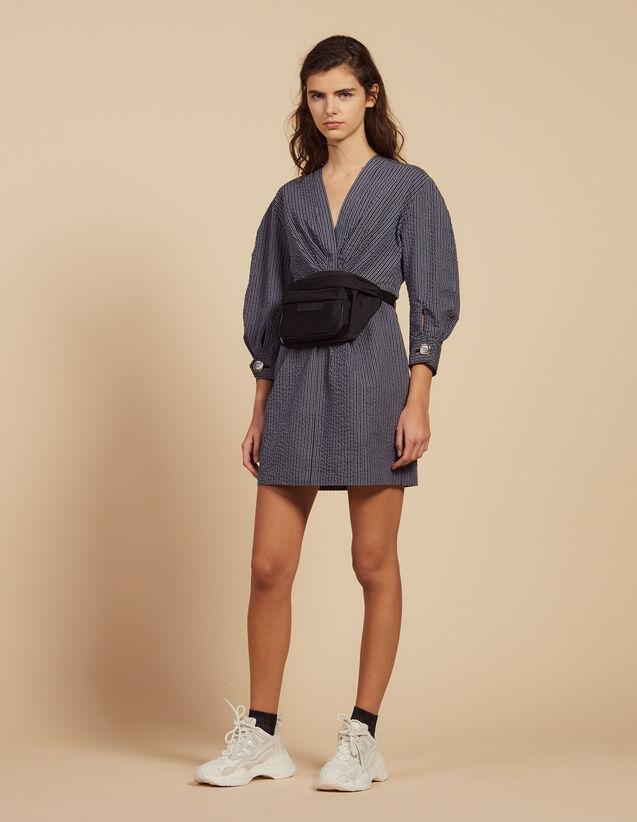 Short Dress With Fine Stripes : LastChance-FR-FSelection color Blue