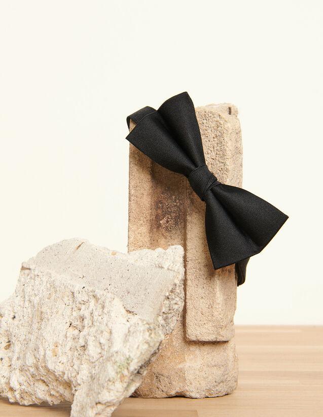 Silk twill bow tie : Ties & Bow Ties color Navy Blue