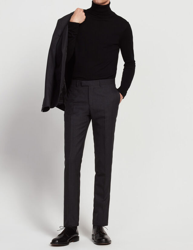 Prince of Wales check trousers : All Selection color Charcoal Grey