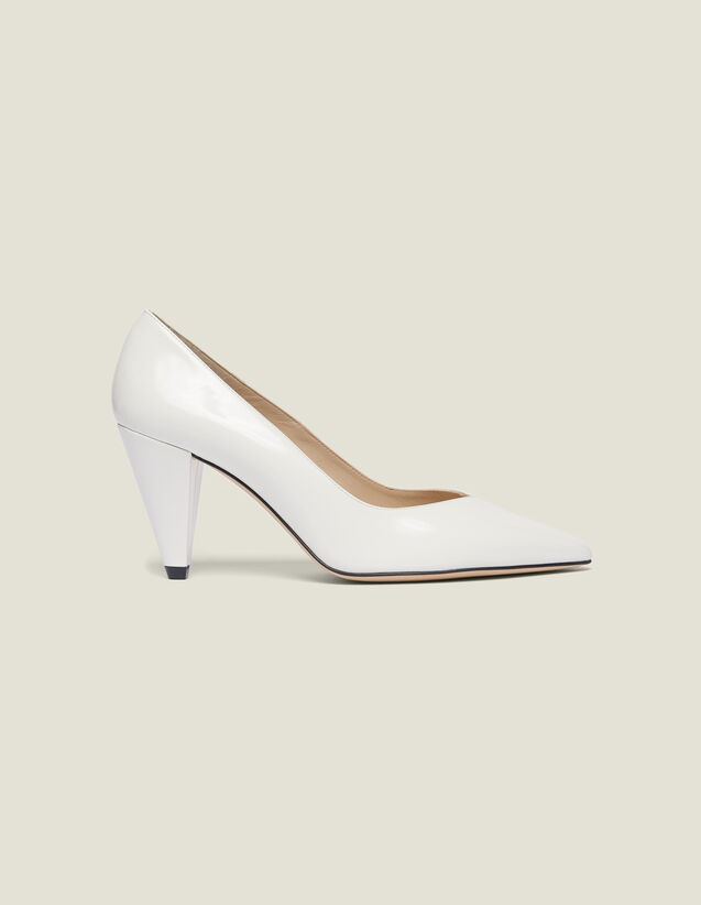 Glazed Leather Heeled Shoes : LastChance-FR-FSelection color white
