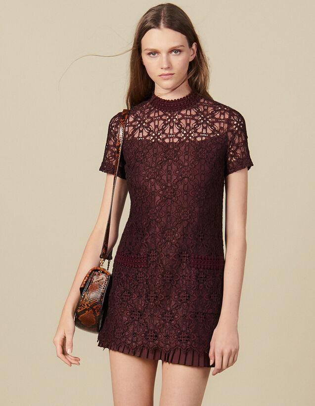 Short lace dress : Dresses color Plum
