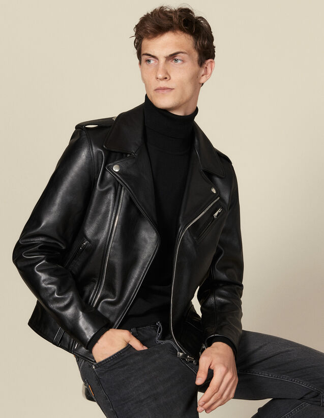 Leather perfecto jacket : Blazers & Jackets color Black