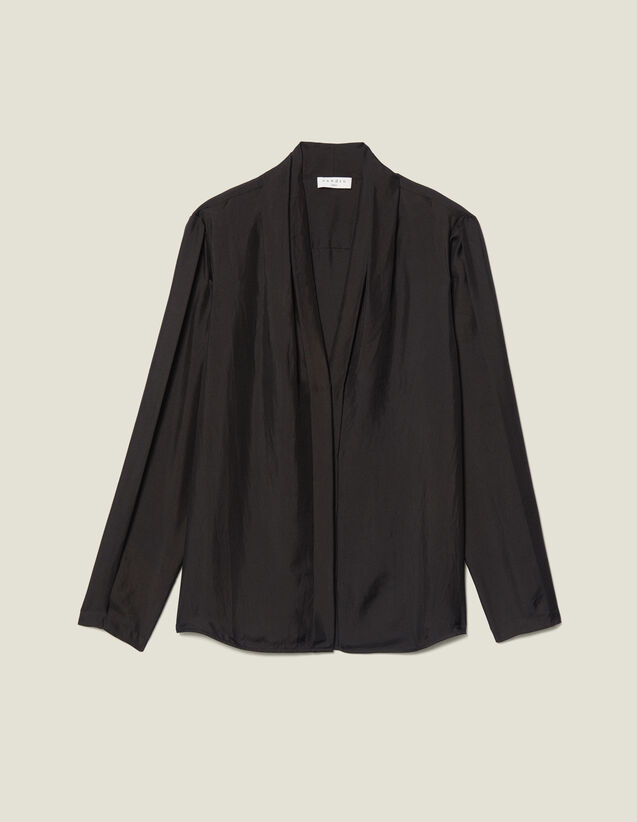 Silk Shirt With V-Neck : New In color Ecru