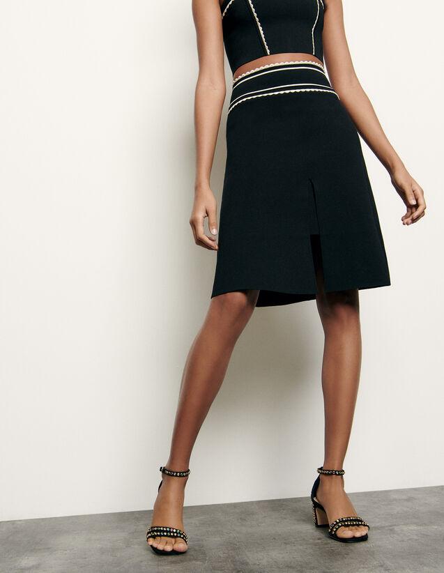 Short knit skirt : New Summer Collection color Black