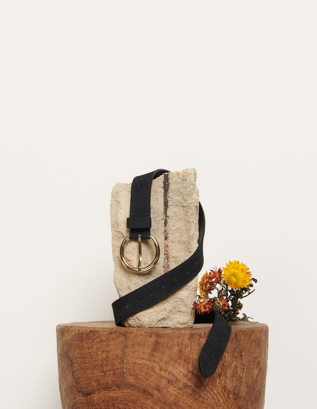 Leather belt : All Winter collection color Dark Navy