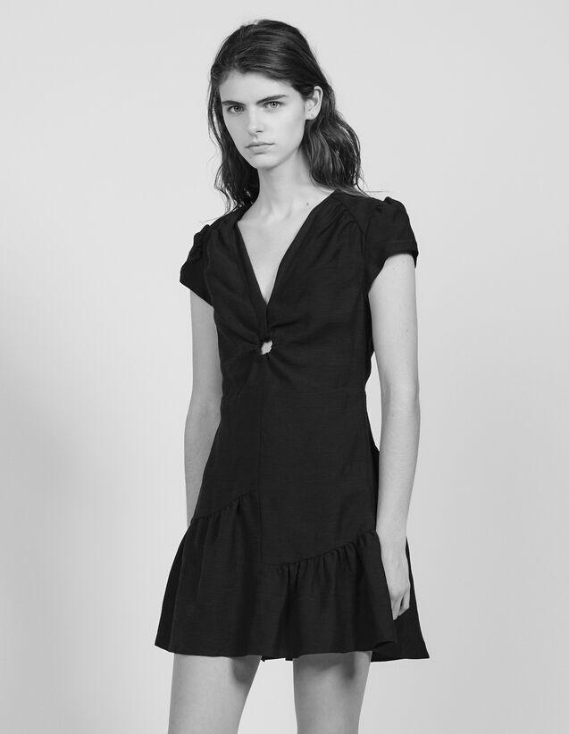 Short Dress With Low Neckline : LastChance-FR-FSelection color Black
