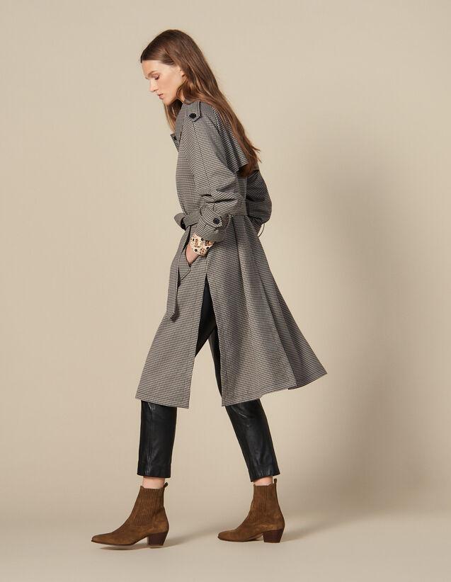 Trench-coat fendu sur les côtés : JP-UK-FPAP&Accessoires couleur Marron