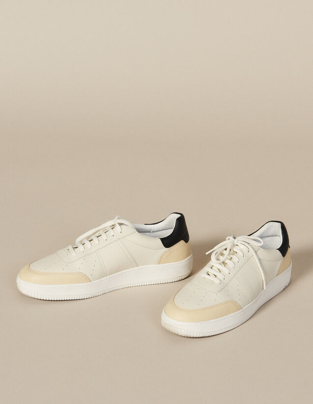 Leather Trainers : Shoes color White And Black