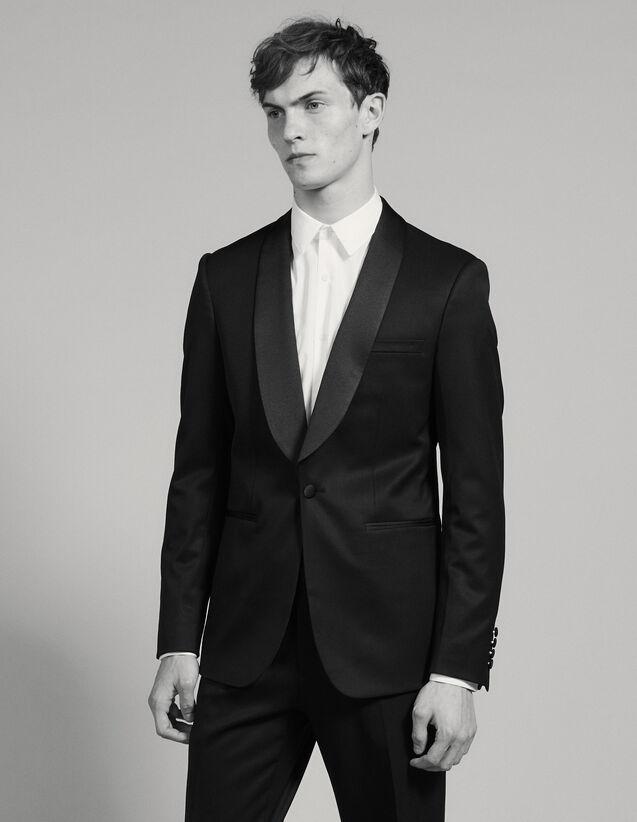 Sandro Grain De Poudre Tuxedo Jacket : Suits & Tuxedos color Black