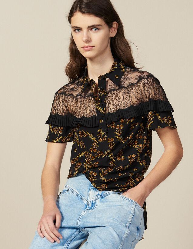 Short-Sleeved Printed Shirt : LastChance-FR-FSelection color Black