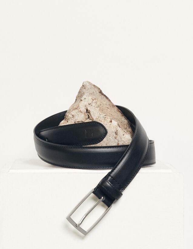 Smooth leather belt : Belts color Black