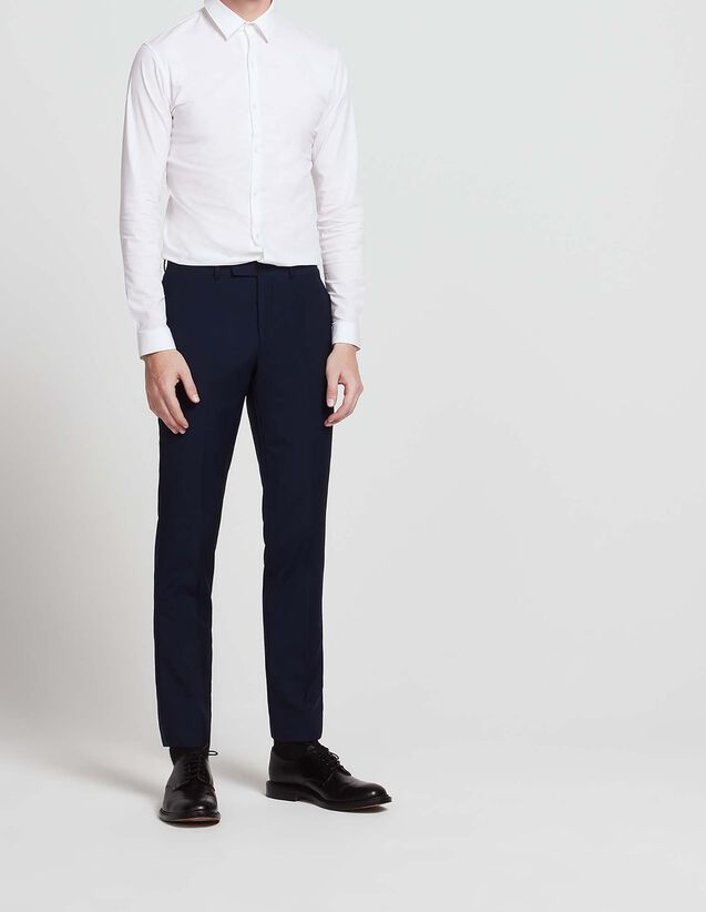 Wool and mohair suit trousers : All Selection color Blue