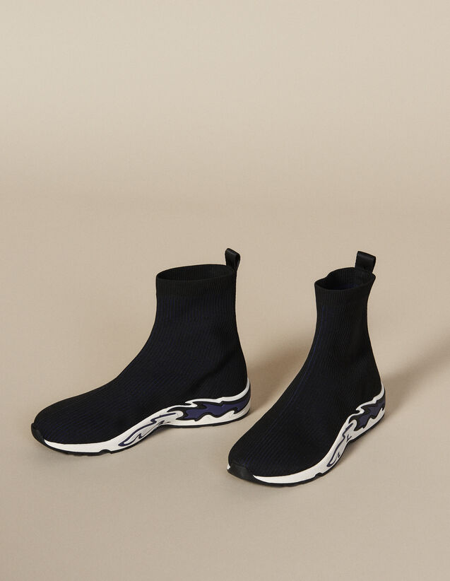 Flame Sock Trainers : All Shoes color NOIR/BLEU