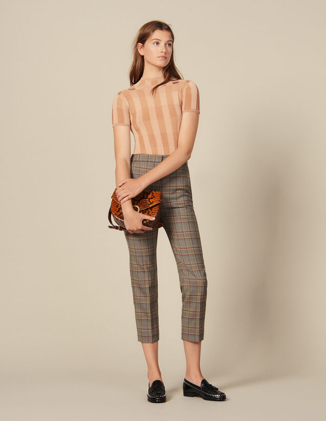 Checked straight-cut trousers : Pants color Multi-Color