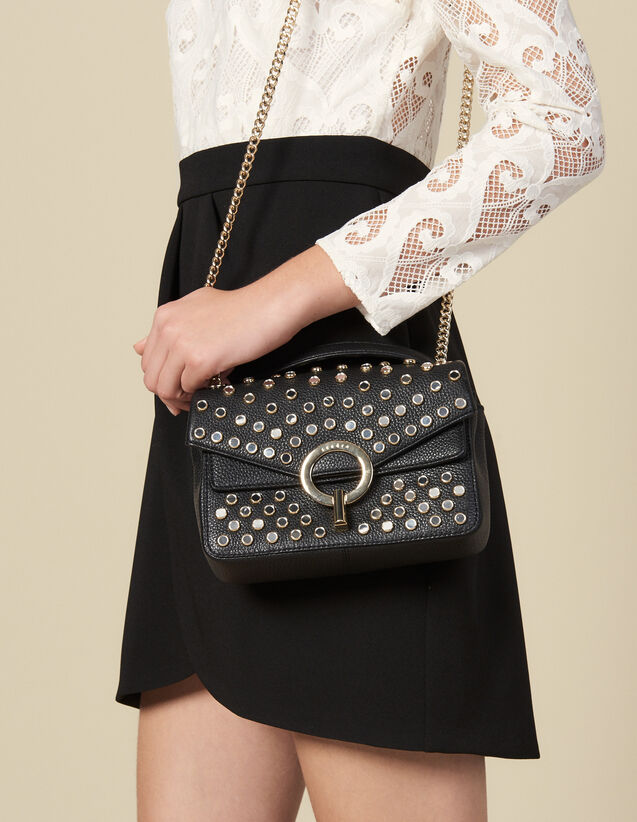 Yza bag with studs, small model : All Winter collection color Black