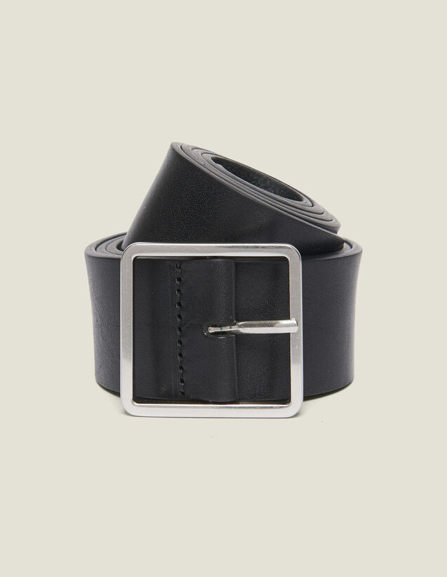 Leather Belt : Belts color Black