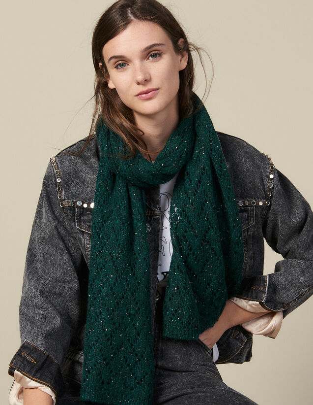 Sequin Scarf : All Winter collection color Forest Green