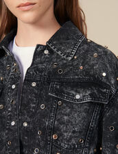 Denim Shirt Trimmed With Studs : FBlackFriday-FR-FSelection-30 color Black