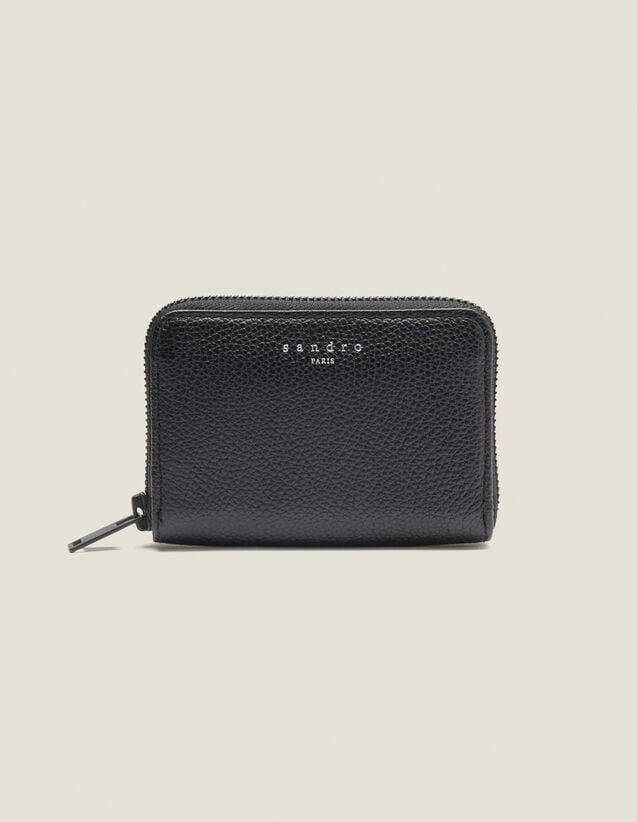 Zipped Card Holder : Card Holders & Wallets color Black