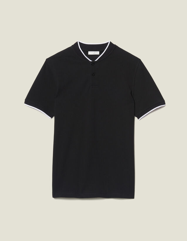 Polo Shirt With Contrasting Collar : T-shirts & Polo shirts color Navy Blue