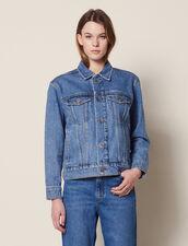 Masculine Fit Denim Jacket : null color Blue Vintage - Denim