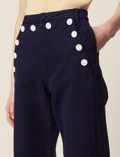 Pantalon À Pont : null couleur Marine