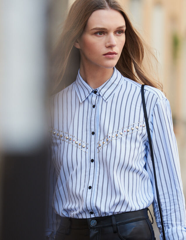 Striped Poplin Shirt : FBlackFriday-FR-FSelection-30 color Blue sky
