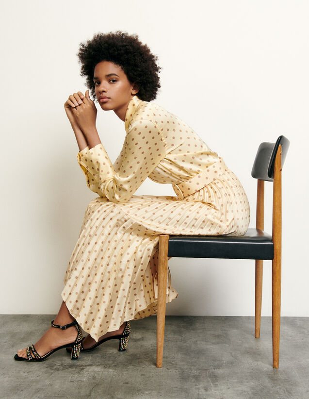 Classic shirt with polka dot print : New Summer Collection color Yellow
