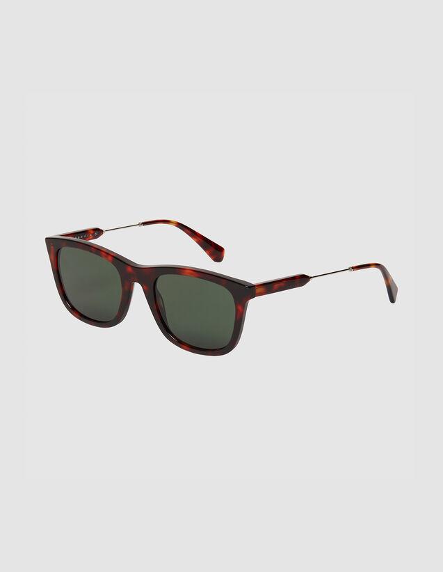 Rectangular Sunglasses : Sunglasses color Black