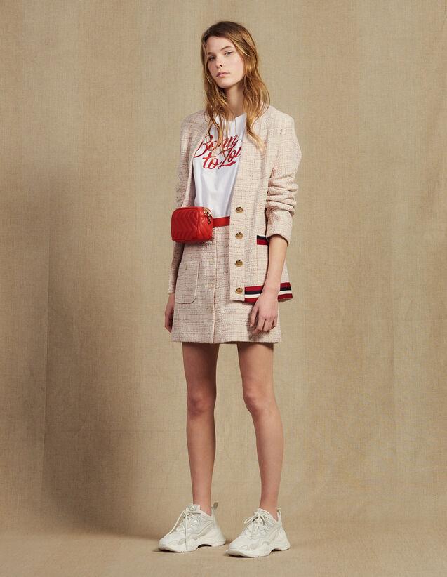 Tweed Cardigan-Jacket : LastChance-FR-FSelection color Pink
