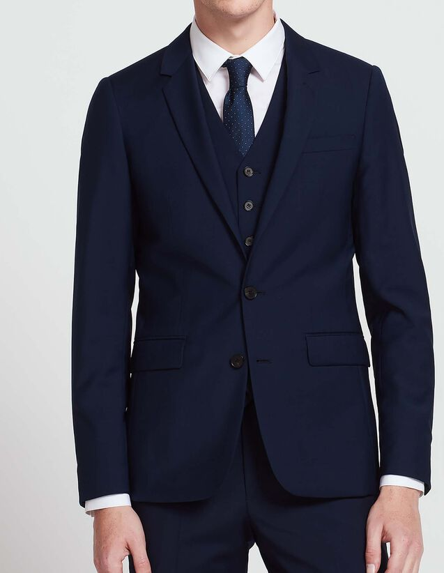 Wool and mohair suit jacket : All Selection color Blue