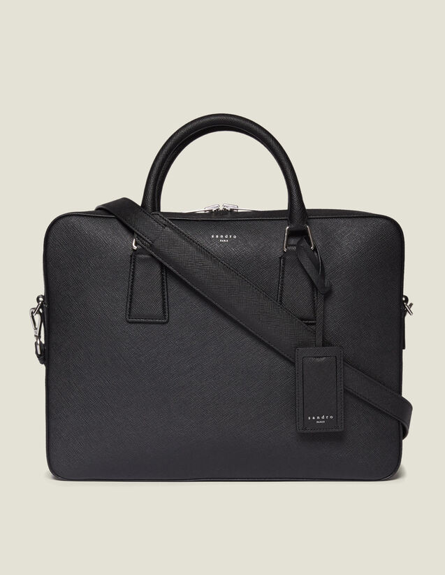 Large Saffiano Leather Briefcase : Briefcases color Black