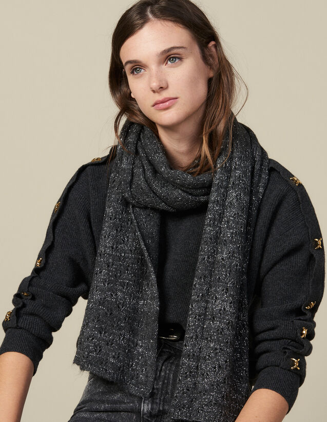 Lurex scarf : All Winter collection color Black