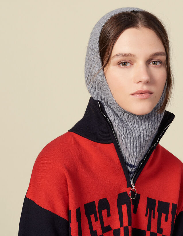 Wool & cashmere balaclava : All Winter collection color Cream