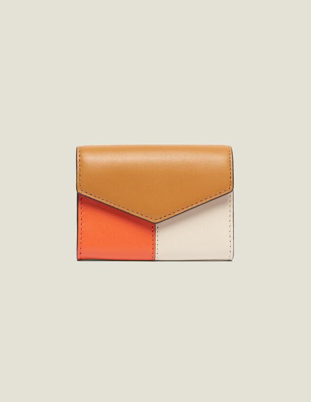 Lou Wallet : Summer Collection color Camel/Ecru/Orange