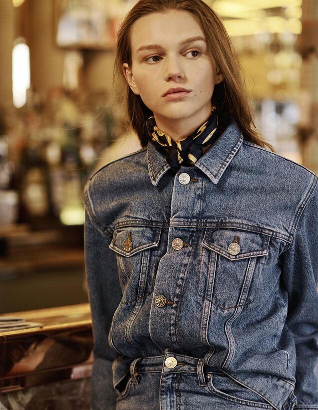 Veste En Jean Fit Masculin : null couleur Blue Vintage - Denim