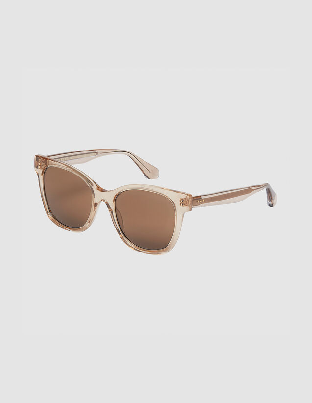 Oversized Sunglasses : Sunglasses color Tobacco Brown