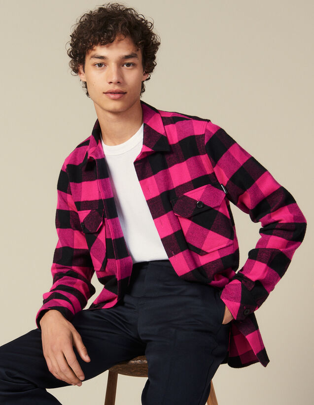 Checked cotton shirt : All Winter collection color Blue