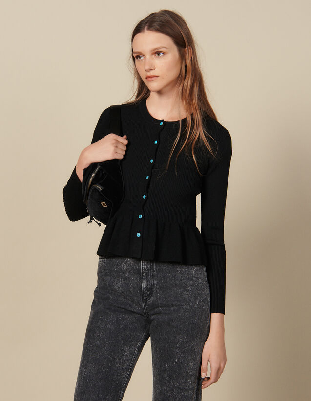 Ribbed Knit Cardigan : FBlackFriday-FR-FSelection-30 color Black