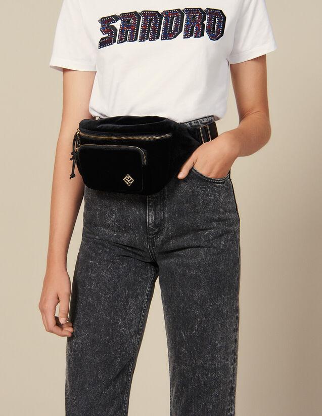 Velvet Banana Bag : New In color Black